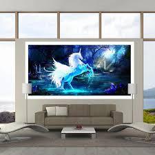 diy 5d diamond painting animal fantasy unicorn diamond mosaic