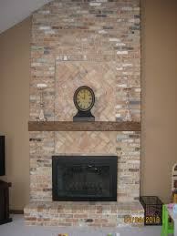 Fake Exposed Brick Wall Brick Wall Fireplace Remodel Design Ideas Pictures Loversiq