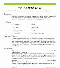 Resume For Nanny Job by Download Nanny Resumes Haadyaooverbayresort Com