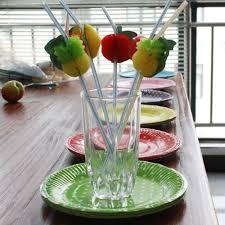 online shop 50pcs lot 3d fruit drinking straw multicolor party