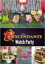 Themed Halloween Party Ideas by Real Party Disney U0027s Descendants Watch Party Disney S