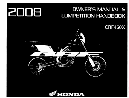 honda motorcycles crf450x pdf owner u0027s manual free download u0026 preview