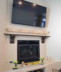 Diy Bedroom Set Plans Diy Fireplace Mantel Shelf Her Tool Belt