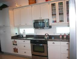 Small Kitchen With White Cabinets Interior Design Exciting Granite Countertop With White Kraftmaid