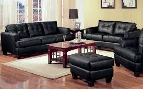 Livingroom Sets 2 Piece Modern Black Bonded Leather Sofa And Loveseat Livingroom