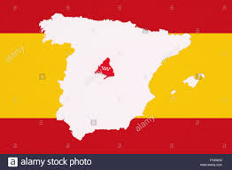 Madrid Spain Map by 3d Rendering Contour Of Spanish Map With Madrid City Spanish Flag