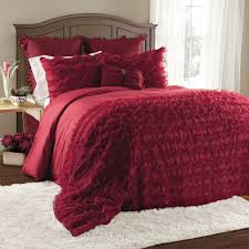Red King Comforter Sets Avery 7 Piece Comforter Set