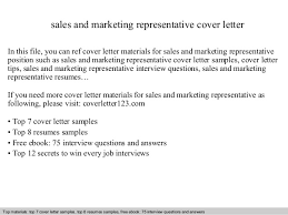 Sales and marketing representative cover letter sales and marketing representative cover letter In this file  you can ref cover letter materials