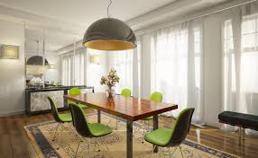 dining room aluminium track lighting with hanging bulb lamp for