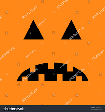 halloween cute background pumpkin sad face emotion big triangle stock vector 702308311