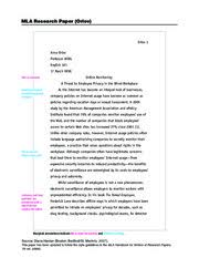 Sample Essay In Mla Format Page   Style Paper Format Essay Minml