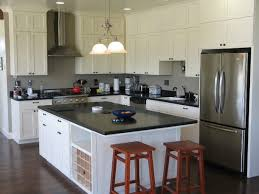 Stainless Steel Kitchen Pendant Light by Interior White Quartz Countertop Kitchen With Black Wooden