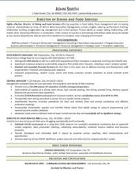 Resume Examples For Food Service by View Food Services Resume Example Dining Manager