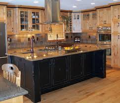 kitchen brown wooden flooring white wooden kitchen island brown