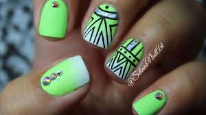 cute lime green nail designs choice image nail art designs