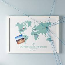 Diagram Of The World Map by Framed World Maps For Sale