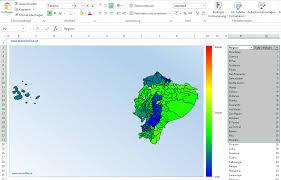 Excel Heat Map Powerpoint Vector Map Ecuador Maps4office