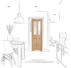 bevelled glass door malton bi fold internal oak door with clear bevelled glass