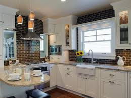 backsplashes white kitchen subway tile gray countertop white