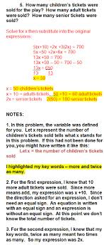 Algebra Word Problems and Writing Equations algebra word problems