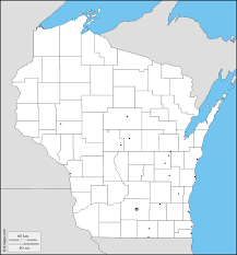 Wisconsin Map With Counties by Wisconsin Free Map Free Blank Map Free Outline Map Free Base