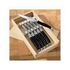 Gourmet Kitchen Knives Jean Dubost Laguiole 6 Piece Steak Knives Stainless Steel Wine