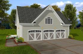 House Plans With 3 Car Garage by Siding Three Car Garage With Storage Above 20054ga