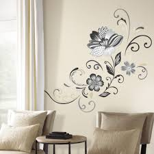 blend personality and functionality to create a custom closet black and white flower wall decals