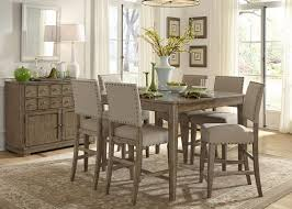 liberty furniture weatherford casual rustic 7 piece dining table