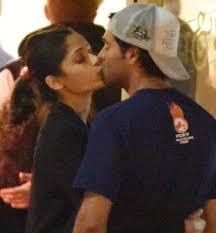 Actress Freida Pinto kisses her new boyfriend in public   Freida     Actress Freida Pinto kisses her new boyfriend in public