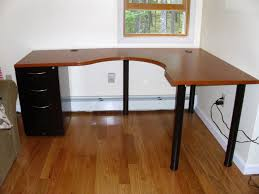contemporary black l shaped writing desk with file cabinets best