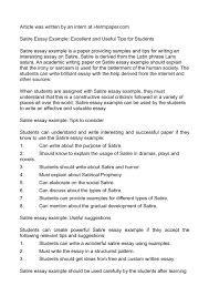 writing the research paper a modest proposal ideas for essays satire essay topics satirical satire essay topics satirical essay topics gxart example of satirical essay topics gxart orgexamples of satire