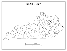 Texas Map Outline Kentucky Blank Map