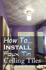 how to install faux tin ceiling tiles faux tin ceiling tiles