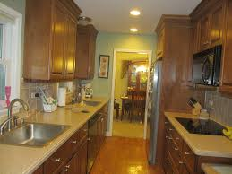 Galley Kitchen Designs Layouts by Kitchen Minimalist Decorating Ideas Using Strips Light And