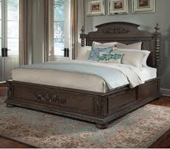 Klaussner International Klaussner International Versailles Queen Bed With Bun Feet And