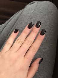 short and square dark purple acrylic nails nails pinterest