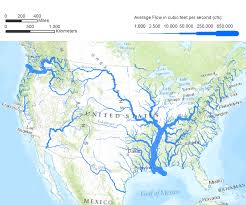 Color Coded Map Of Usa by Flow Rates A Map Of The United States Illustrating Flow Rates Of
