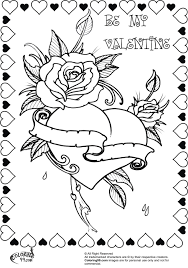 valentine rose coloring pages getcoloringpages com
