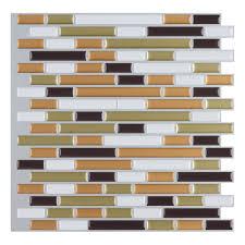 Backsplash Tile For Kitchen Peel And Stick Peel And Stick Wall Tile Kitchen And Bathroom Backsplashes 10 Pcs