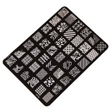 10 x nail art stamping image metal plates kit set 70 mixed designs