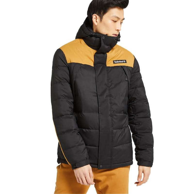 Timberland Outdoor Archive Puffer Jacket Black/Wheat Boot Extra Large TB0A1WYYP56-XL