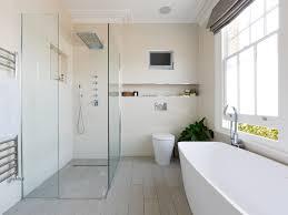 bathroom bathroom tv ceiling lighting tv venetian blinds walk in