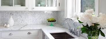 Herringbone Gray Backsplash Herringbone Carrara White Marble - Carrara tile backsplash