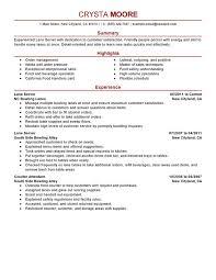 Fast Food Resume Samples by Food Server Resume 8 Lane Server Resume Sample Uxhandy Com