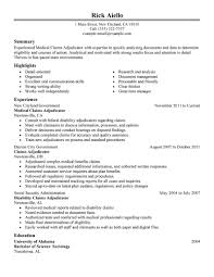 example of federal government resume best medical claims adjudicator experienced resume example create my resume