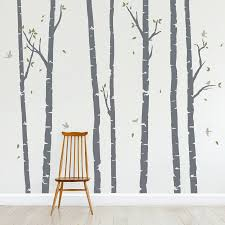 Bedroom Wall Decals Trees Birch Trees Forest Wall Decal