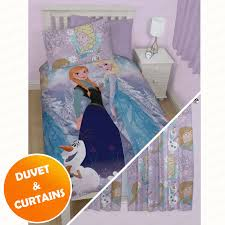 disney frozen bedroom duvet covers u0026 matching curtains u2013 two drop