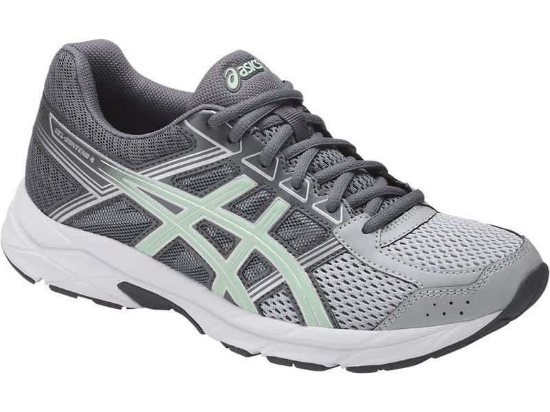 Asics Gel-Contend Fabric Low Top Lace Up Running Sneaker, Grey,
