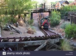 big thunder mountain railroad at disneyland los angeles stock